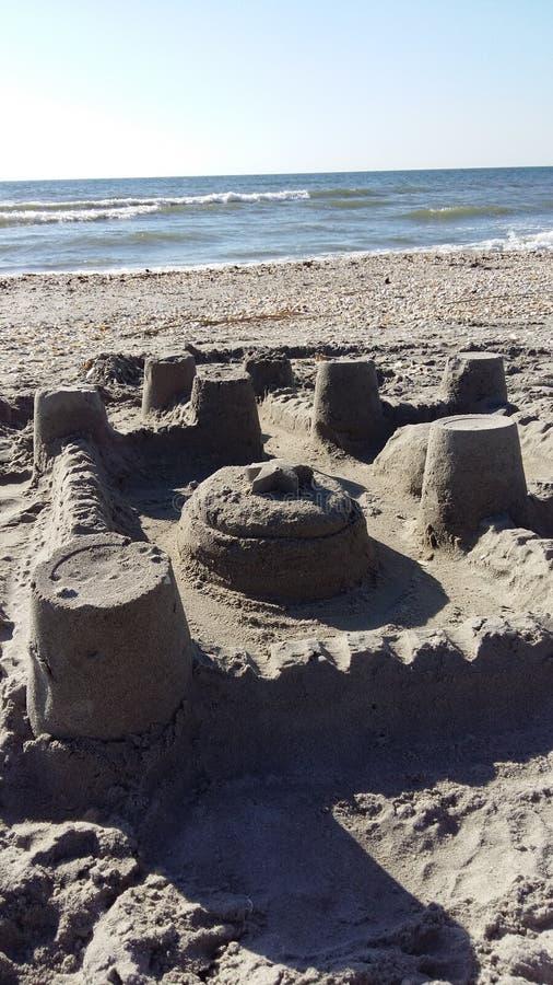 Sandcastle. On the beach stock photography
