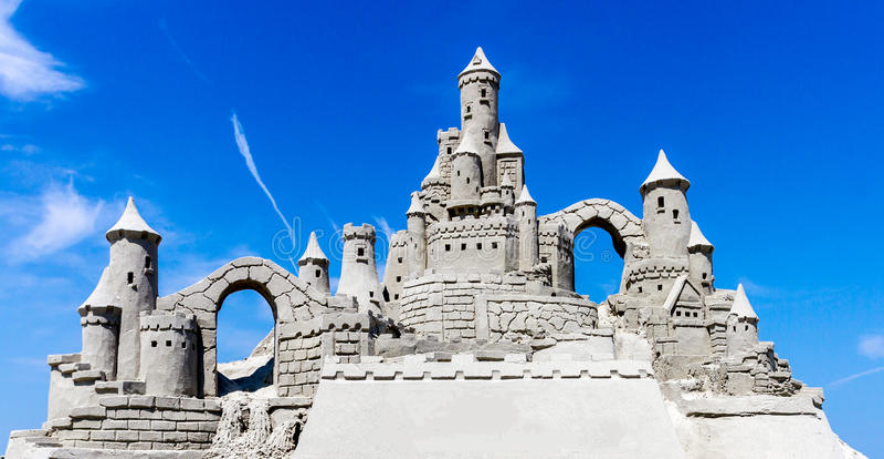 Download Sandcastle Blue Sky Stock Photo - Image: 42440868