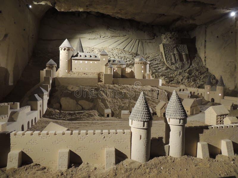 sandcastle Castillo viejo - arte de la piedra caliza fotografía de archivo