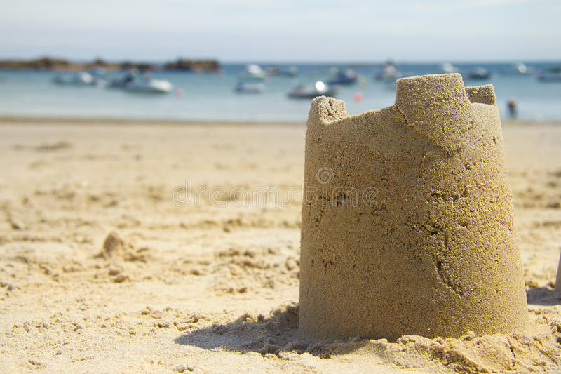 Download Sandcastle and harbour stock photo. Image of boat, sandcastle - 15592242
