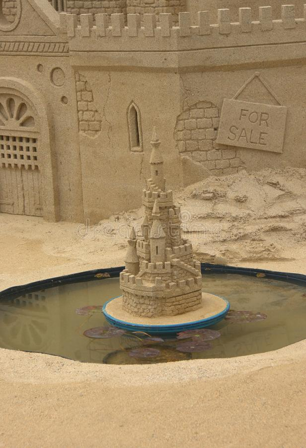 Download Sandcastle and pond stock photo. Image of castle, talent - 32008454