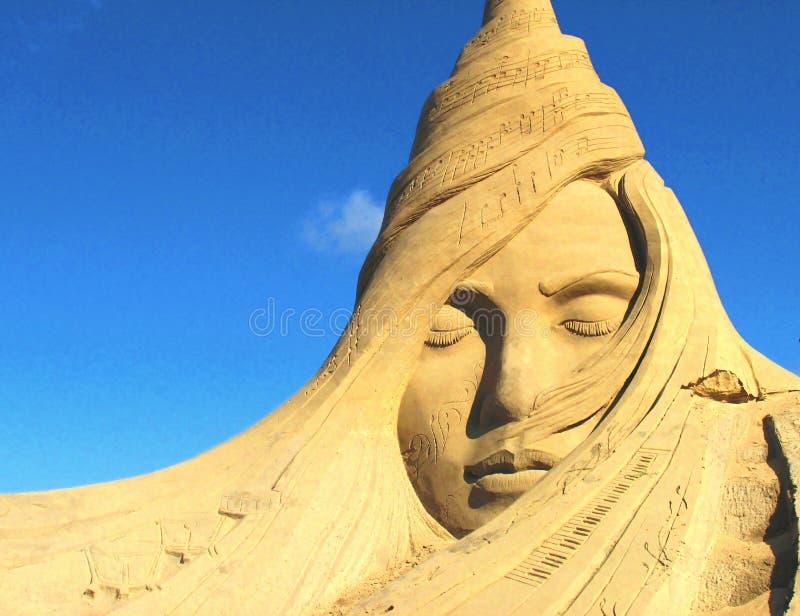 Sandcastle Sculpture stock photography