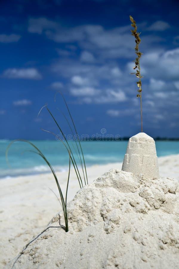 Sandcastle sonhador fotografia de stock
