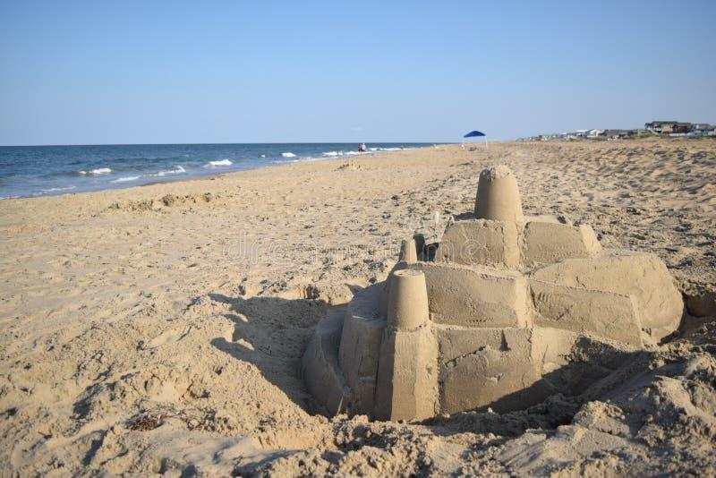 Sandcastle in Virginia royalty free stock photo