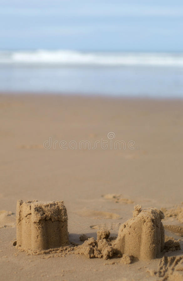 Sandcastles stock images