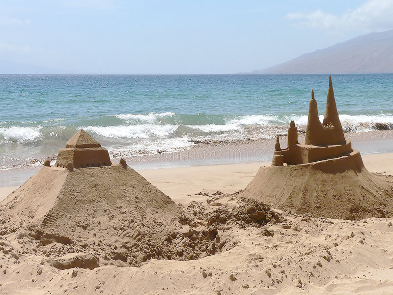 Sandcastles Royalty Free Stock Image