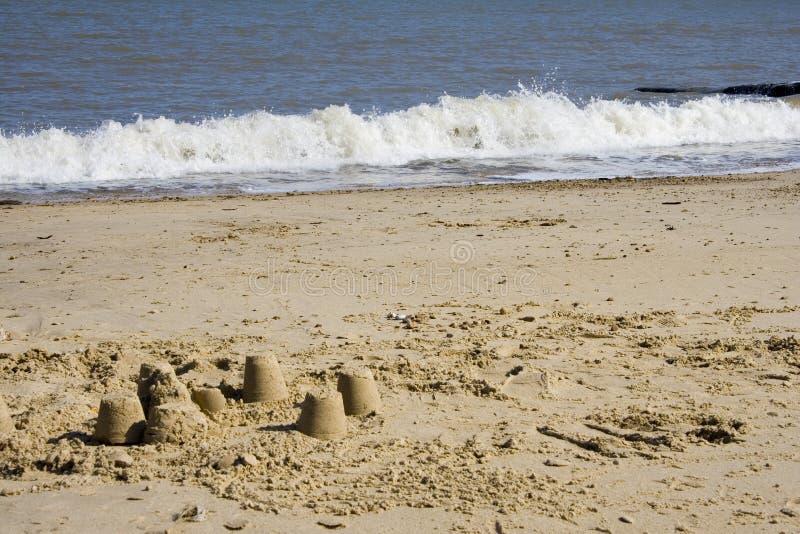 sandcastles zdjęcia royalty free