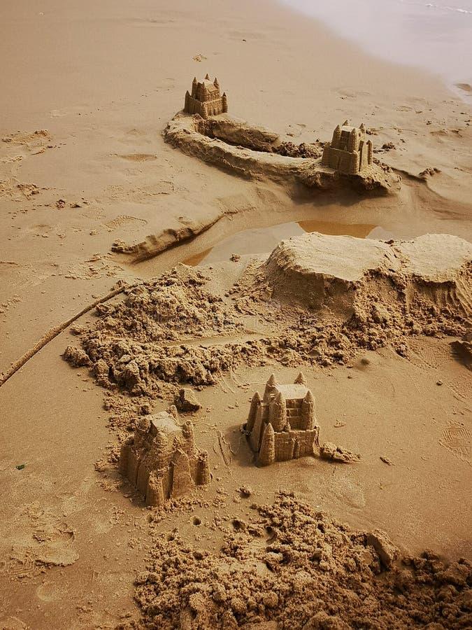 Sandcastles royalty free stock photo