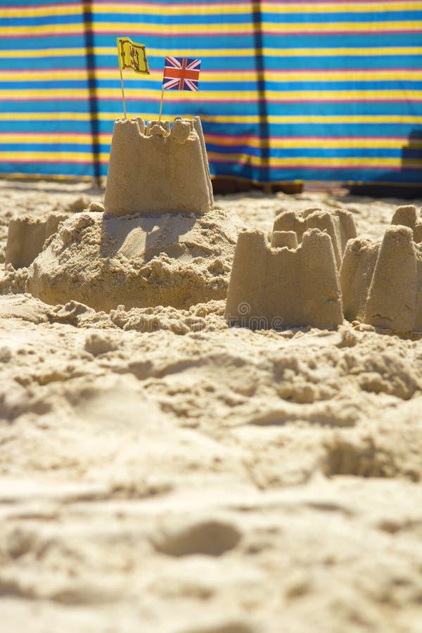 Sandcastles and windbreak