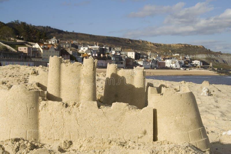 sandcastlesjösidatown fotografering för bildbyråer