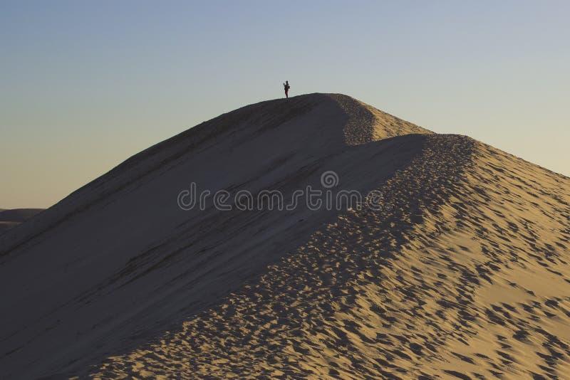 Sanddüne Dune du Pilat in Arachon, Frankreich lizenzfreie stockbilder