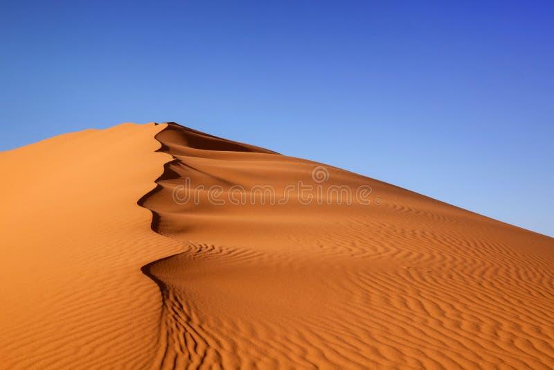 Sanddüne-Marokko-Wüste lizenzfreies stockbild
