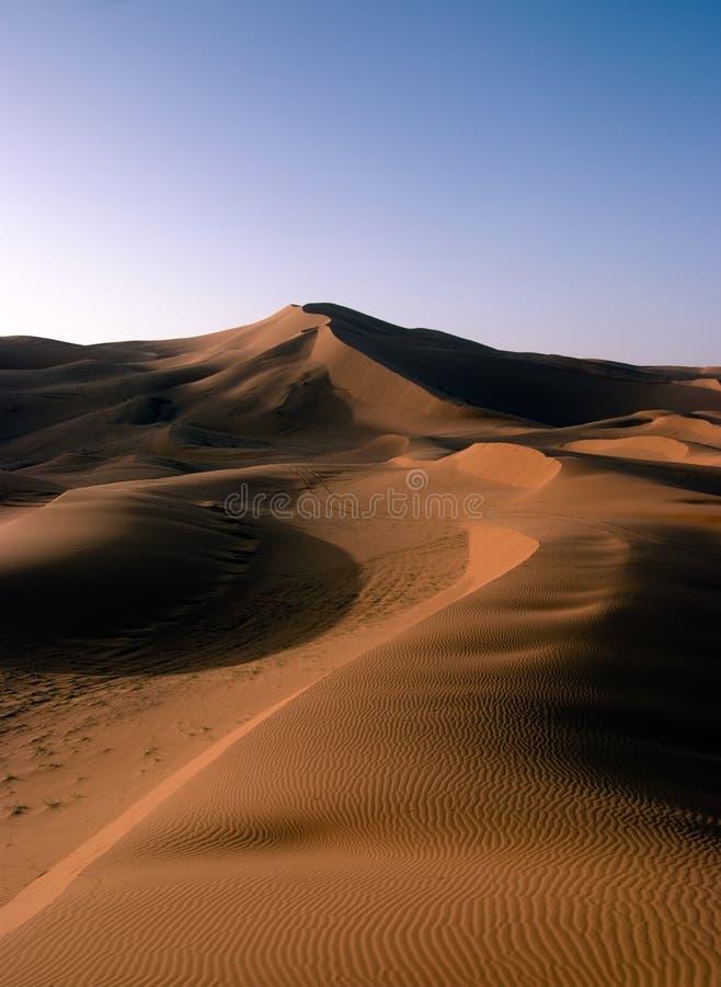 Sanddüne mit Wind-Beschaffenheiten stockfoto