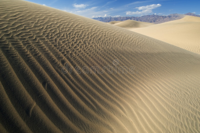 Sanddünen Death Valley lizenzfreie stockfotos