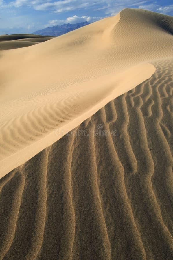 Sanddünen Death Valley stockbild
