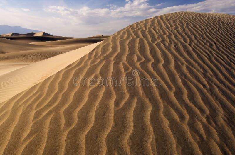 Sanddünen Death Valley stockfotos