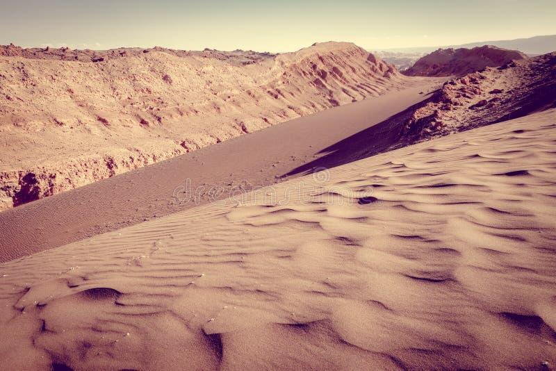 Sanddünen in Valle-De-La Luna, San Pedro de Atacama, Chile lizenzfreies stockbild