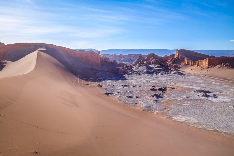 Sanddünen in Valle-De-La Luna, San Pedro de Atacama, Chile lizenzfreie stockfotografie