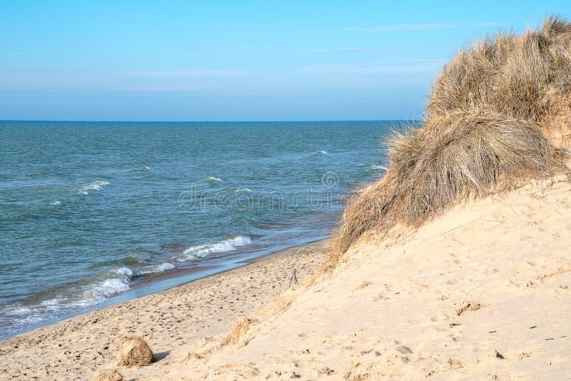 Sanddünenerosion des Lake Michigan lizenzfreie stockfotografie