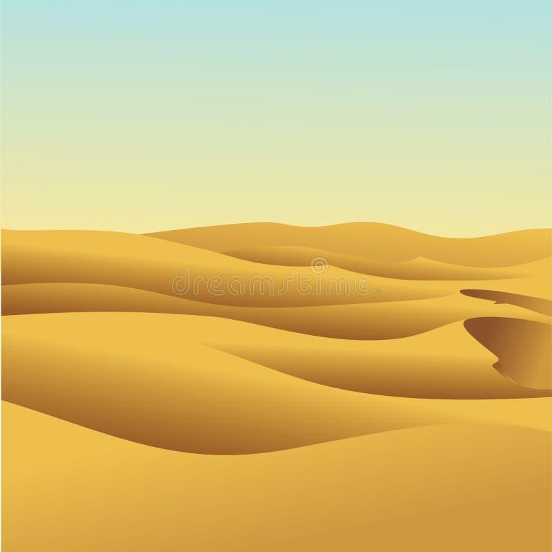 Sanddyn stock illustrationer