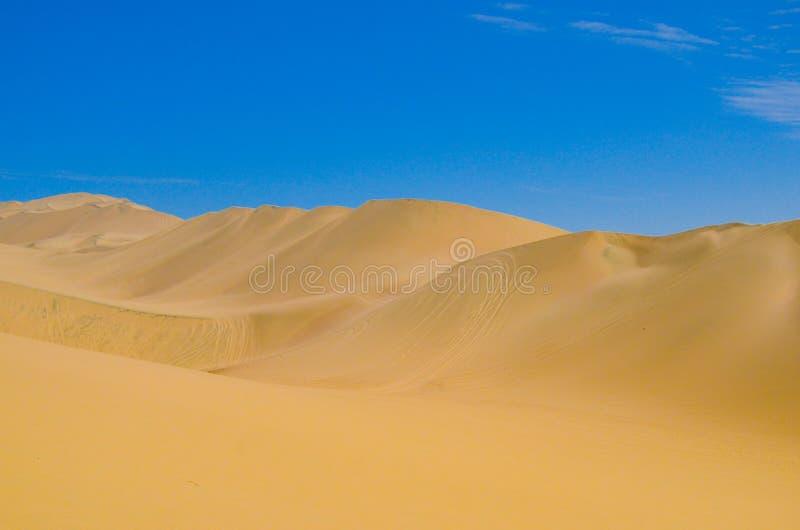 Sanddyn av den Atacama öknen, nära Huacachina i Ica-region, Peru royaltyfri foto