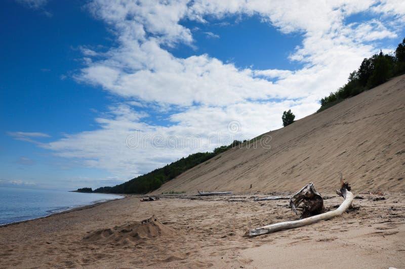 Sanddyn i regionen av Charlevoix, Quebec, Kanada royaltyfria bilder