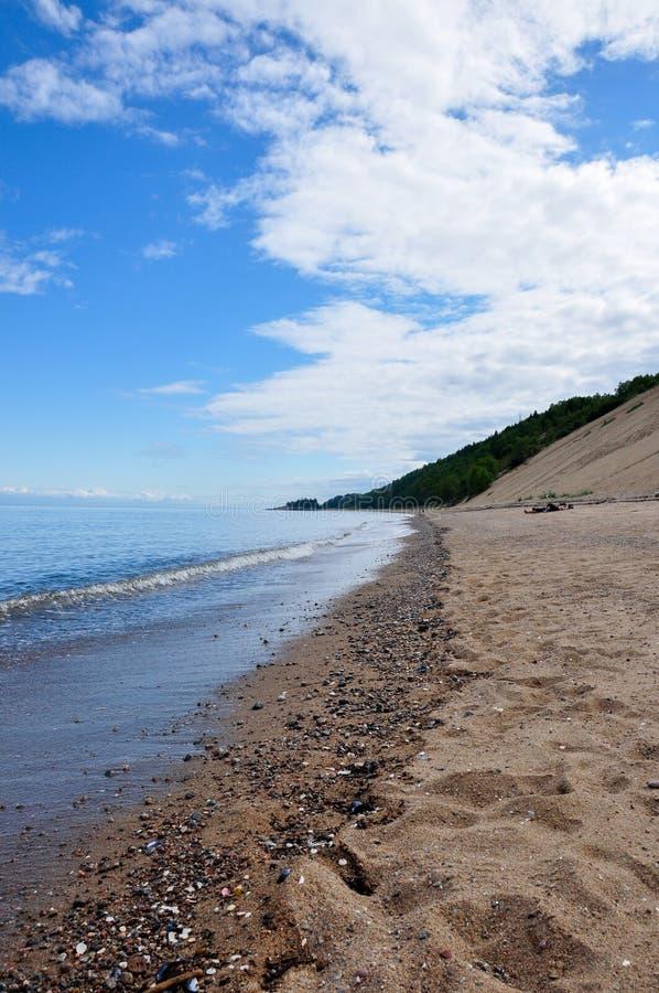 Sanddyn i regionen av Charlevoix, Quebec, Kanada arkivfoton