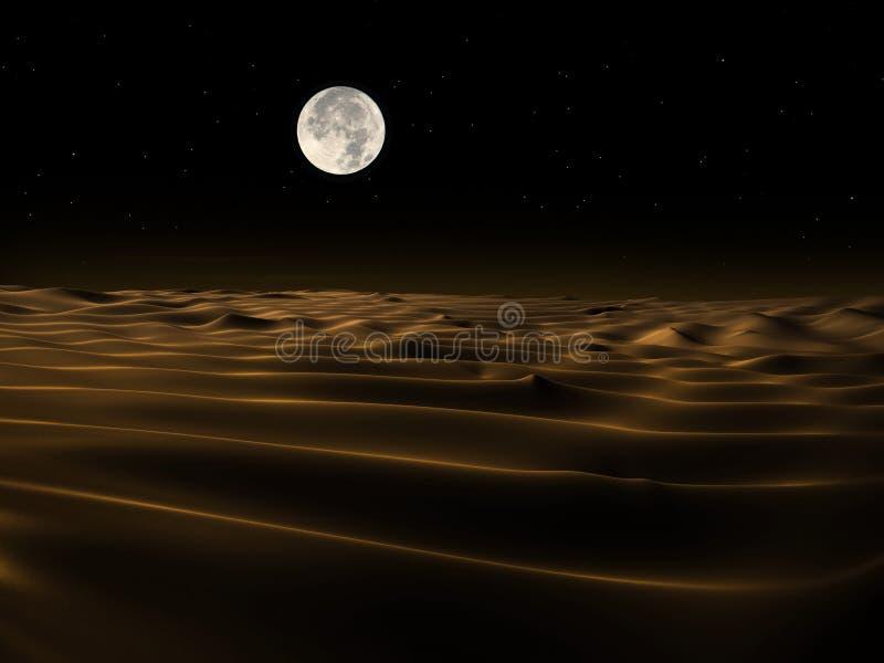 Sanddyn på natten stock illustrationer