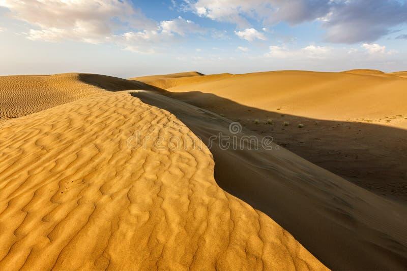 Sanddyner i öken royaltyfri foto