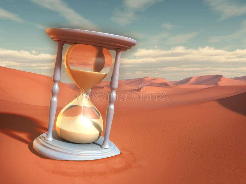 Sande der Zeit stock abbildung