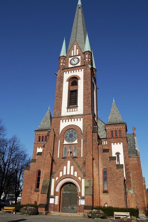 Sandefjords kyrka. royaltyfria foton