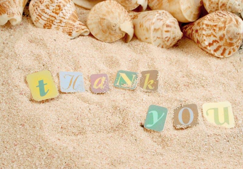 sanden tackar dig royaltyfri bild