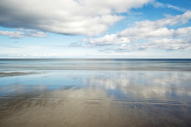 Sandend beach stock image