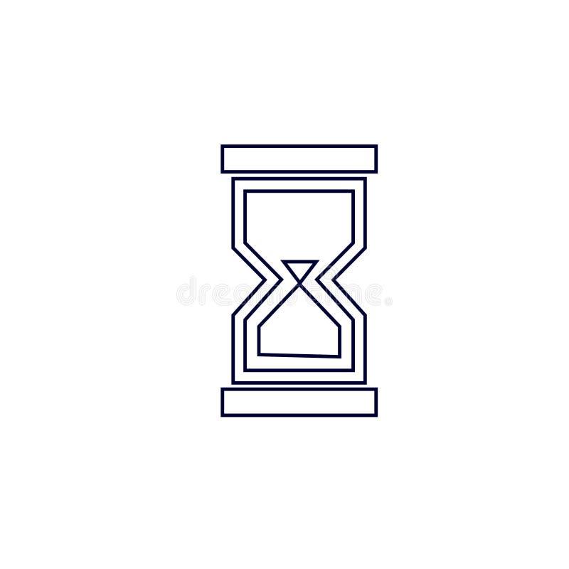 Sandexponeringsglassymbol, vektorillustration Illustration för vektor för sandklockasymbol royaltyfri illustrationer