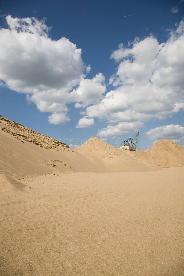 Sandextraktionsite stockbilder