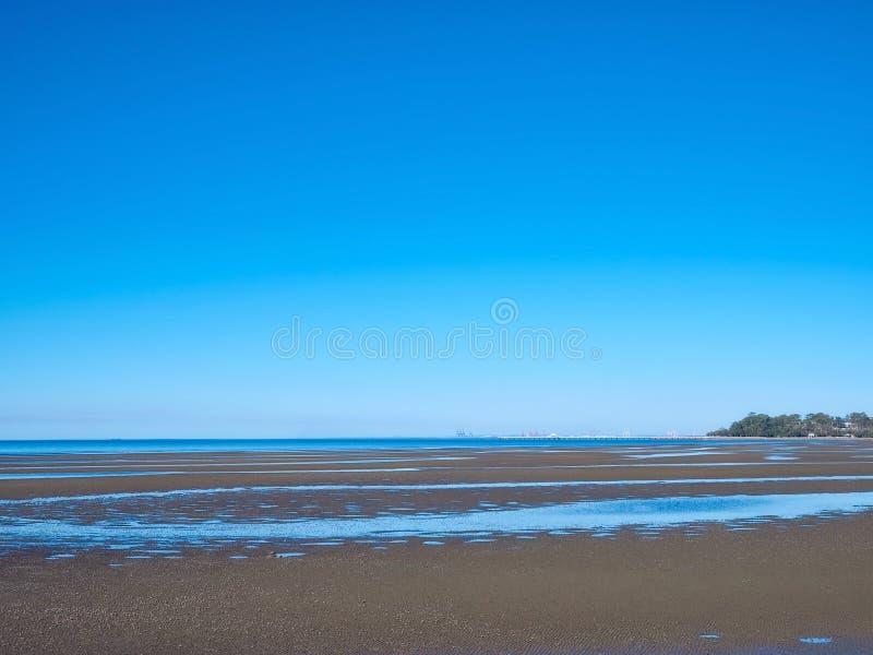 Sandgate strand i Brisbane, Queensland, Australien arkivfoto