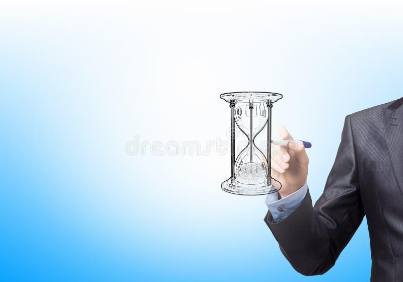 Sandglass-Skizze stockbild