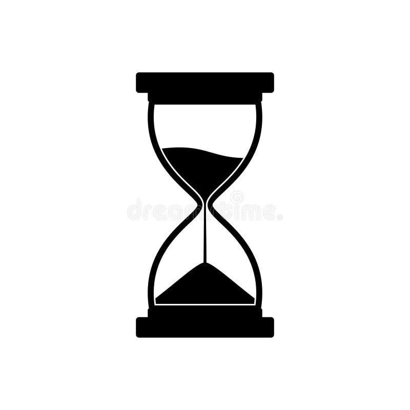 Sandglass symbol på vit bakgrund Tid timglas Sandclock royaltyfri bild