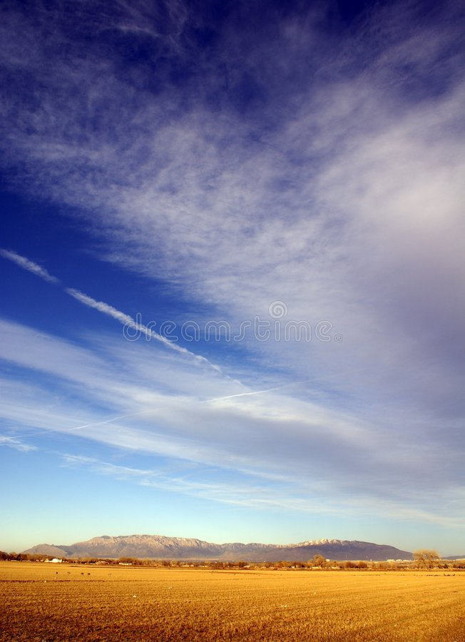 Sandia Mountain stock image