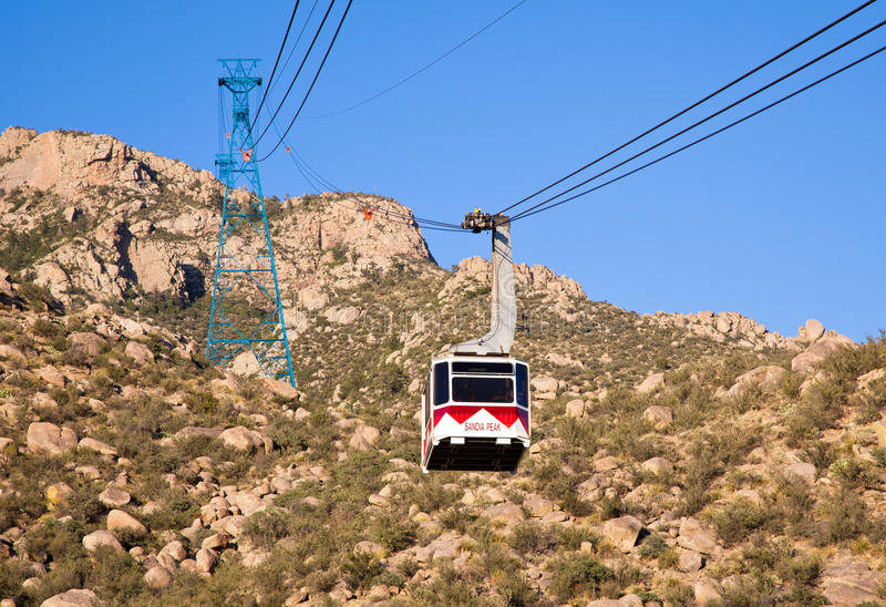Sandia Peak Tramway royalty free stock photo
