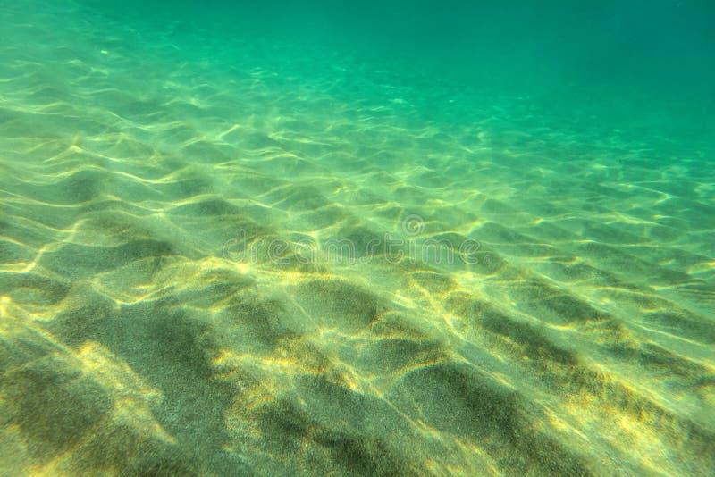Sandig havsbotten, små sanddyn arkivfoton