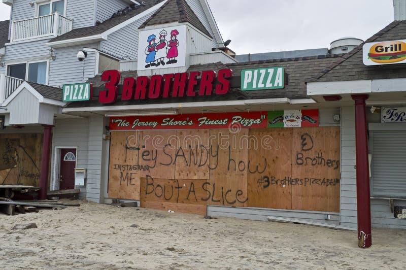 Sandig Pizza Belmar arkivbilder