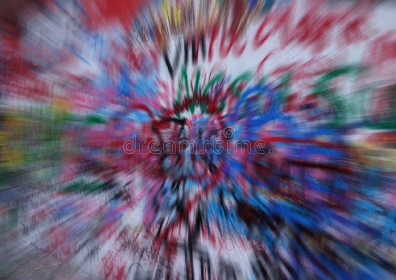 Sandig stads- grafittibakgrund royaltyfri bild