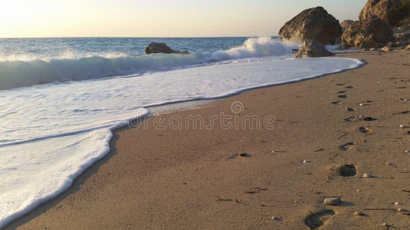 Sandig strand fotografering för bildbyråer