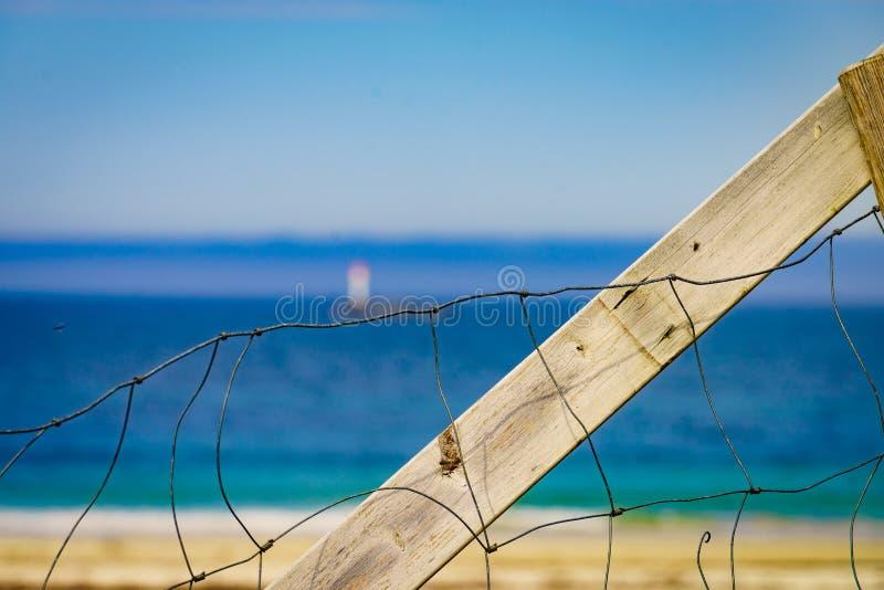 Sandig strand för havskust i semesterorten Bleik Andoya Norge fotografering för bildbyråer