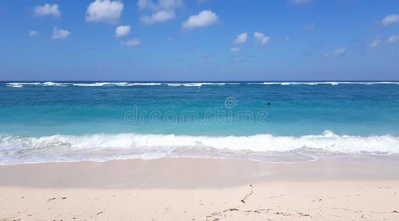 Sandig strand i Bali royaltyfri fotografi