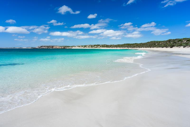 sandigt strandhav arkivbilder