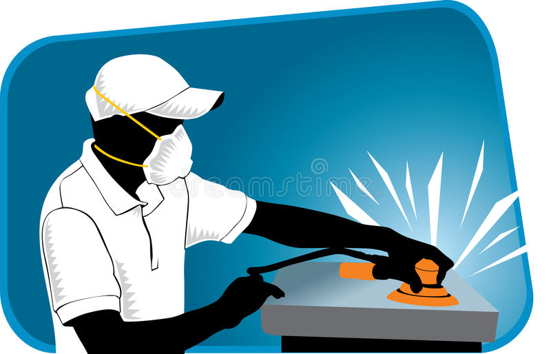 Sanding stock illustration