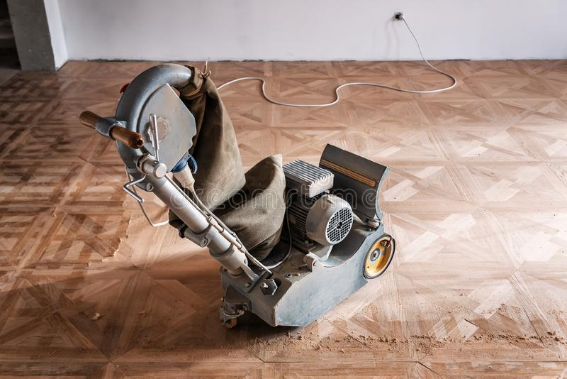 Special grinding machine for parquet royalty free stock photos