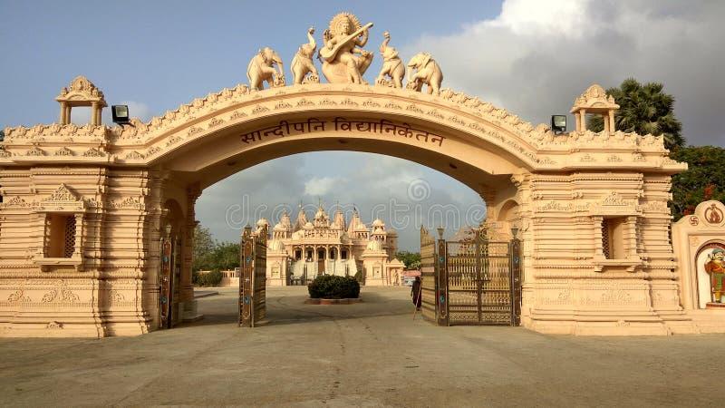 Sandipani tempel på Porbandar royaltyfria bilder